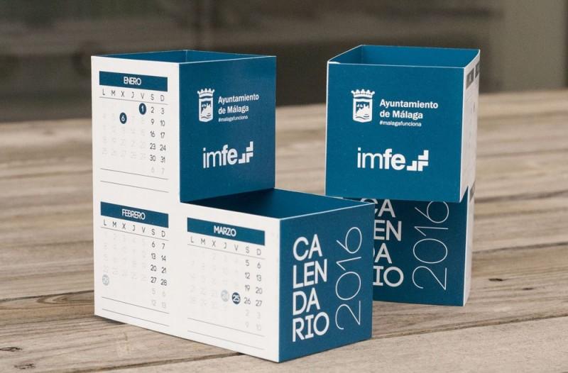 Dise o de calendario corporativo 2016 imfe ayto m laga - Disenos de calendarios ...