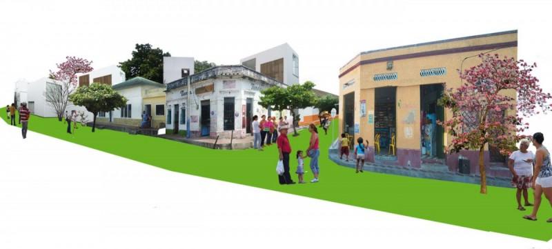 Infografías 3D para concurso Barrio Abajo Barranquilla
