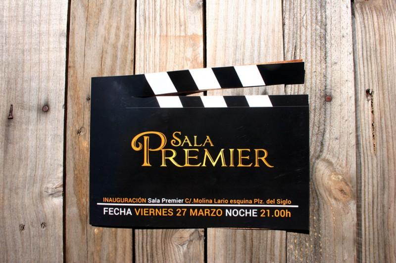 Diseño claqueta Sala Premier Málaga