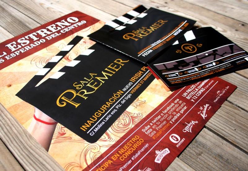 Diseño cartel apertura Sala Premier Málaga