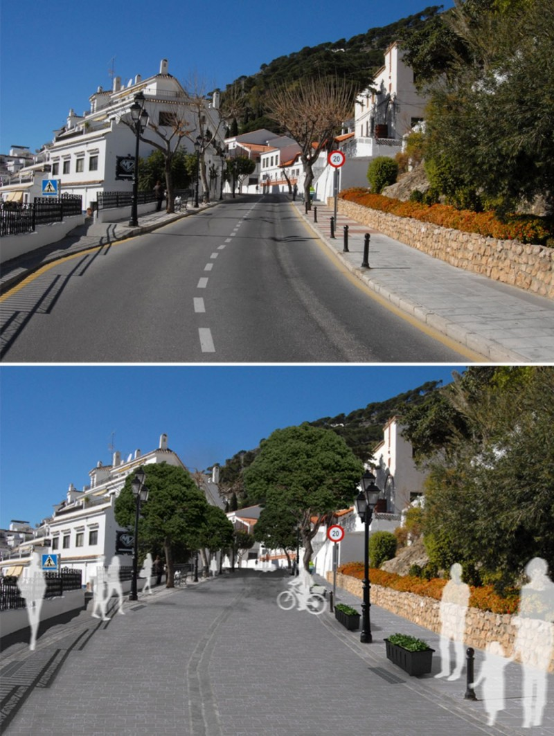 Modelos 3D de mobiliario urbano Mijas