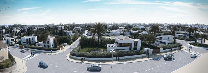 Infografías conjunto de viviendas de diseño Marbella