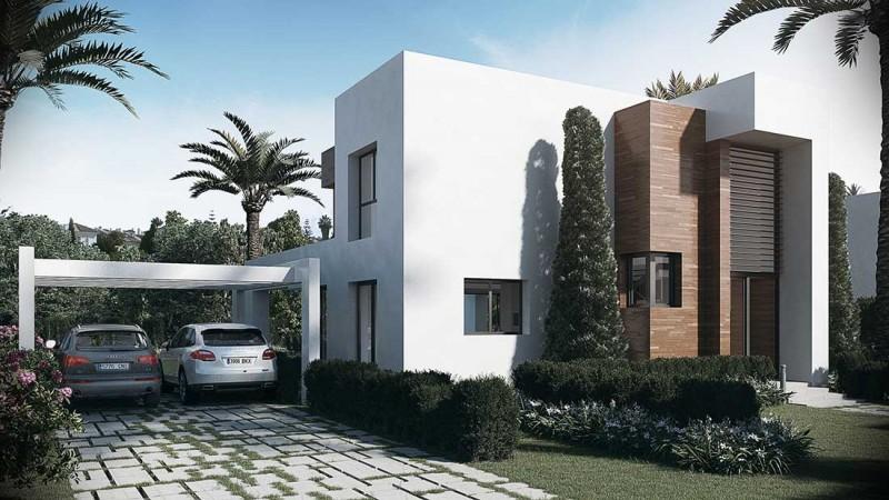 Infografía acceso villa Marbella