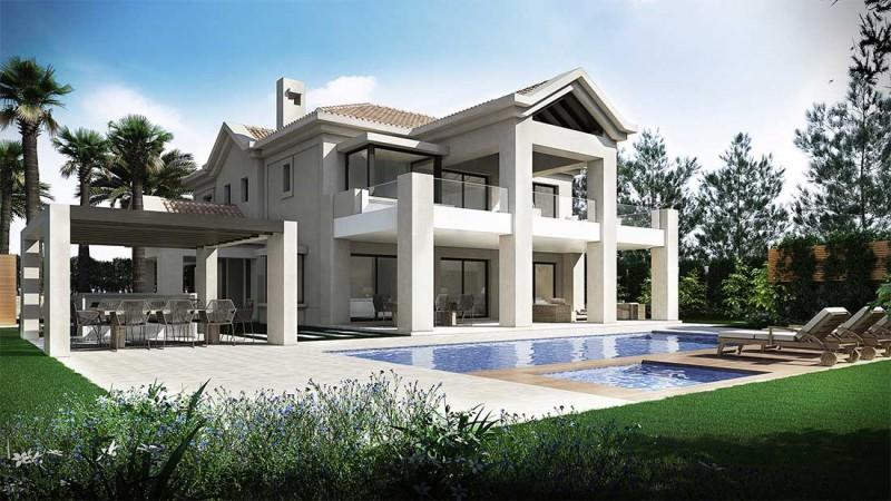 Infografía 3D villa Marbella club