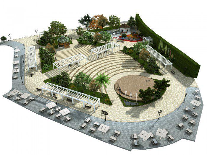 Modelos 3D elementos reforma plaza Mijas