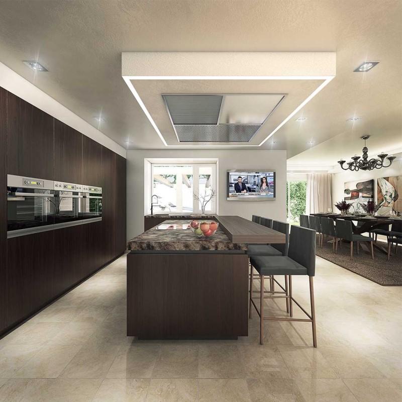 Infografía 3D cocina Marbella