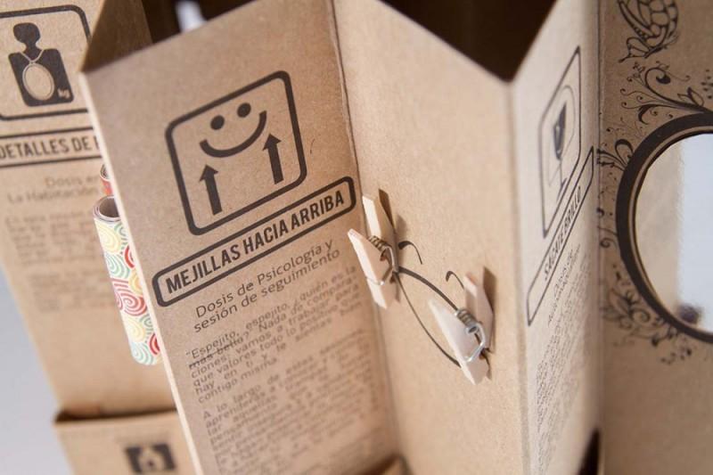 Detalle diseño de packaging reciclado