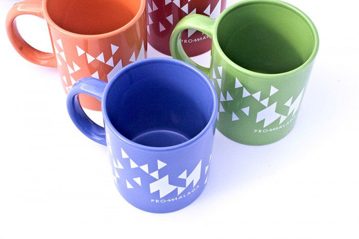 Merchandising Tazas Colores Promálaga