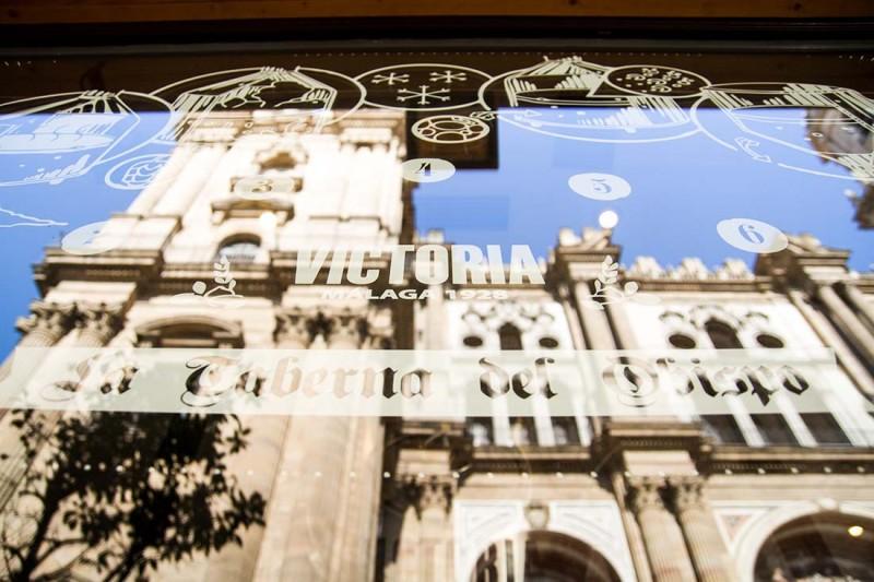 Tematización con la catedral de Málaga de fondo
