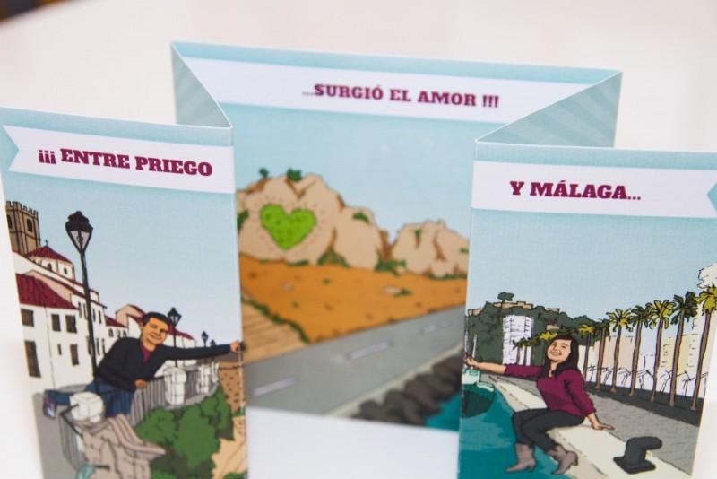 Diseño invitación de boda Córdoba Málaga