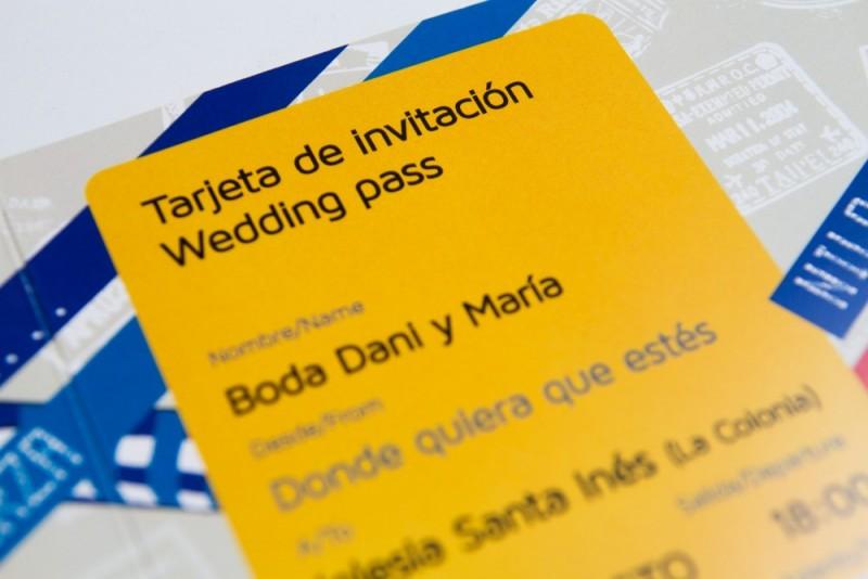 Invitación de boda wedding
