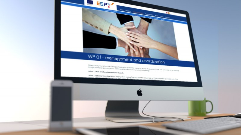 Diseño website ESPY Diputación de Málaga