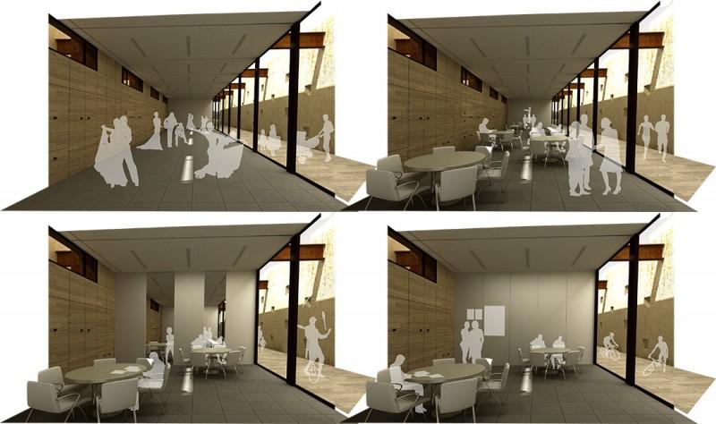 Renders interiores espacio multifuncional