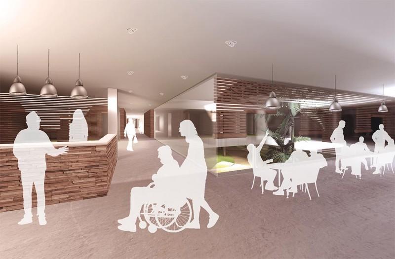 infografia Málaga interior proyecto geriátrico