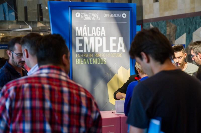 Diseño de imagen feria Málaga Emplea