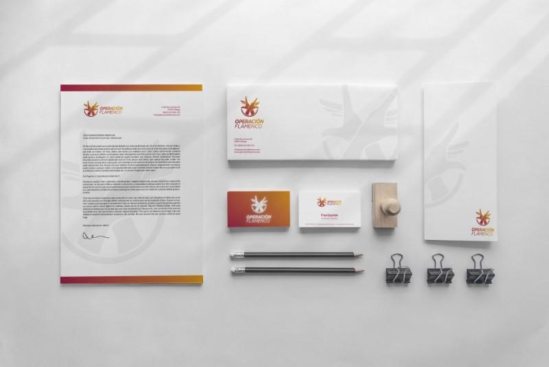 Logotipo aplicaciones y papelería