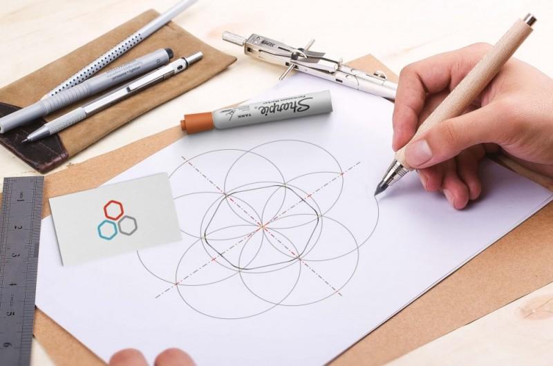 logo Geometrizacion del logotipo