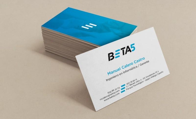 Diseño Tarjetas de visita Málaga Beta 5