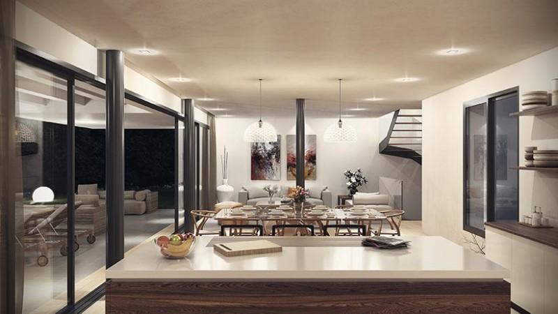 Imagenes 3D interior villa contemporanea