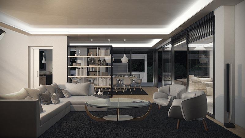 Imagenes 3D Villa Moderna Marbella