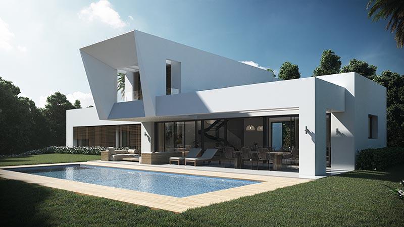 Imagenes 3D Villa en Estepona