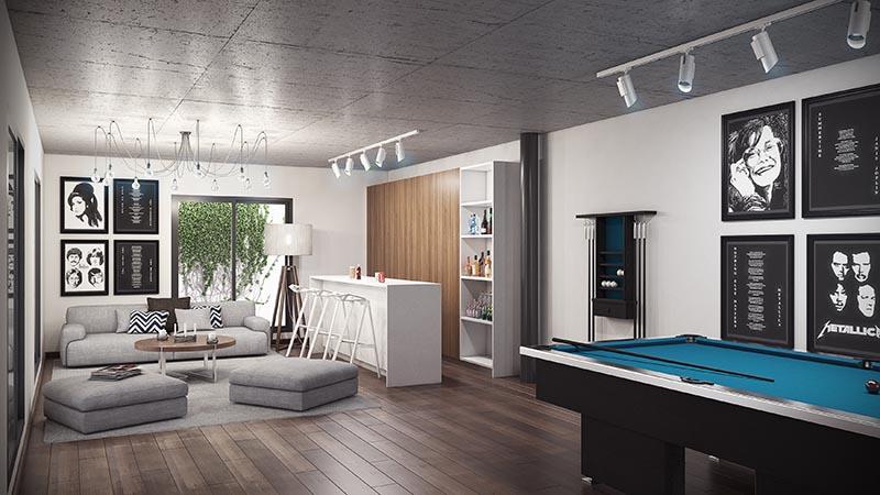 Villa Moderna Sala de juegos