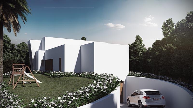 Villa Moderna fachada posterior