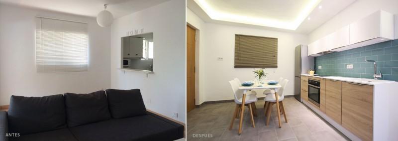 antes y después diseño interior comedor