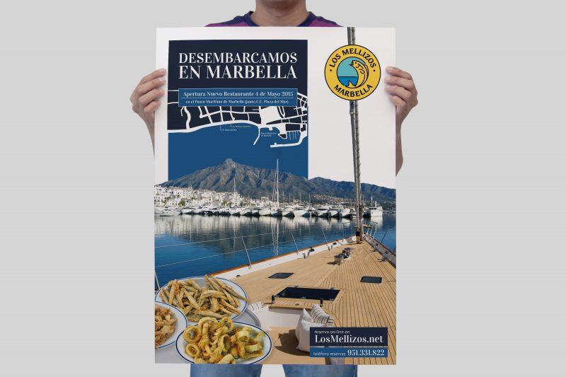 Cartel Desembarcamos en Marbella