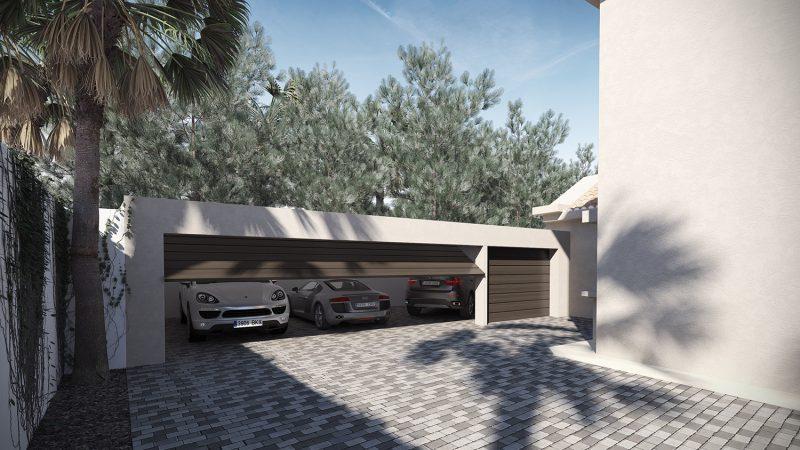 infografía Garaje Villa Marbella