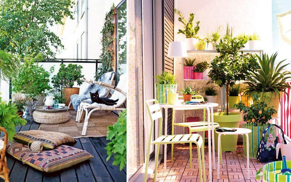 ideas de decoración terraza y balcón