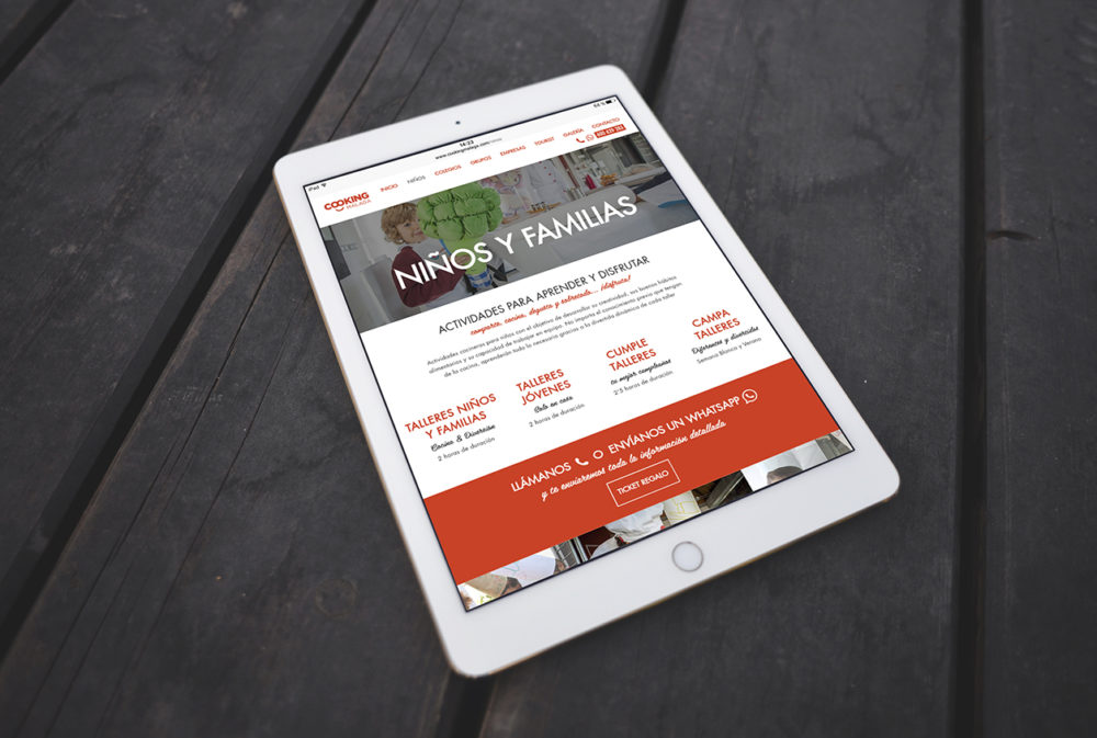 diseño web cooking tablet