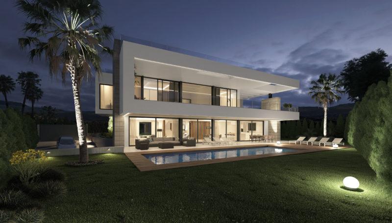 Infografía de arquitectura marbella