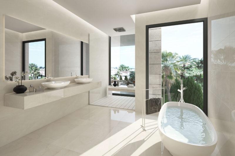 baño de lujo villa marbella