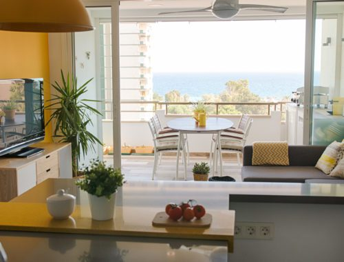Salón y terraza Diseño Interior Aguadulce