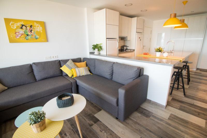 Salón y cocina Diseño Interior Aguadulce