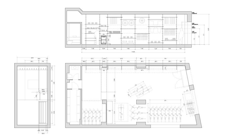 Planos diseño de tienda en Málaga