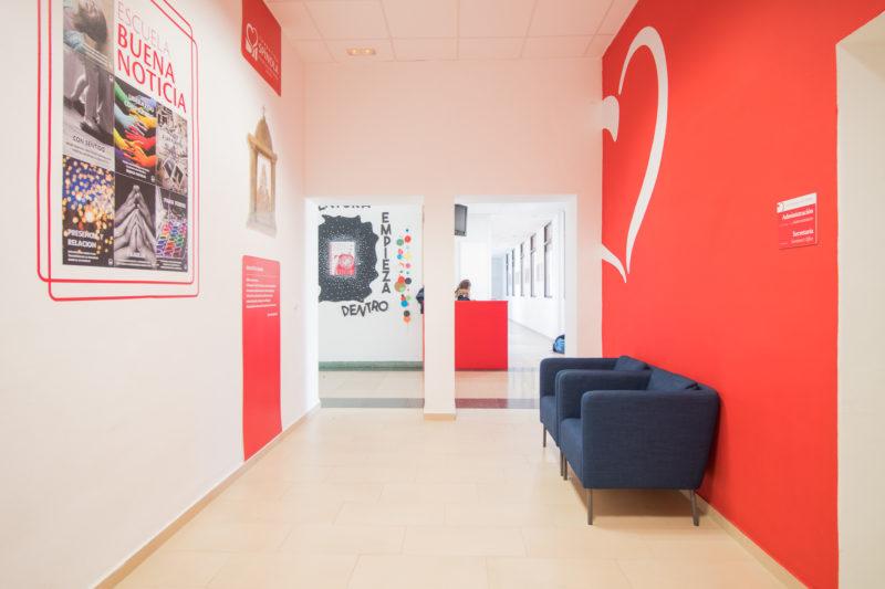 Sala de espera Interiorismo Colegio