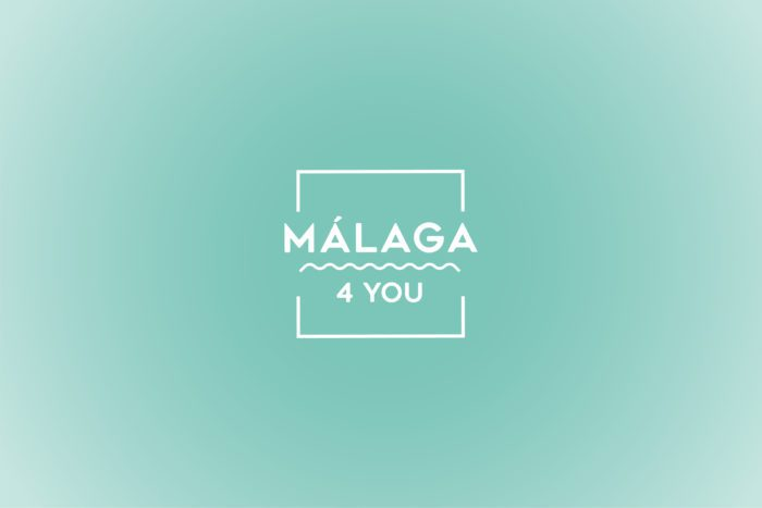 diseño de apartamentos turísticos. Imagen Corporativa Logo Málaga 4 you