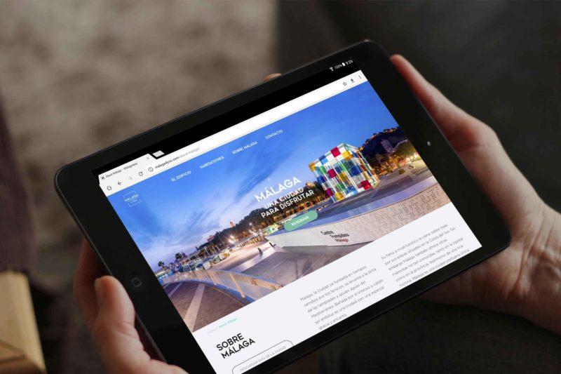 Web Apartamentos Turísticos Málaga