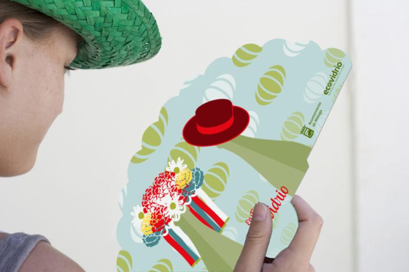 ABANICO ECOVIDRIO Campaña reciclaje