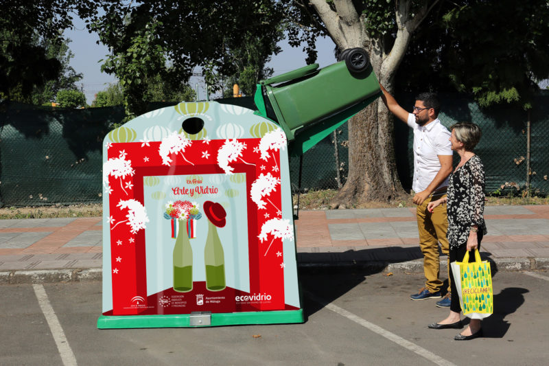 CONTENEDOR ECOVIDRIO Campaña reciclaje