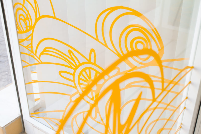 Decoración Oficinas. Detalle Naranja