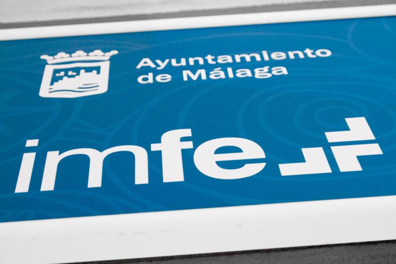 Decoración Oficinas. Rotulo IMFE