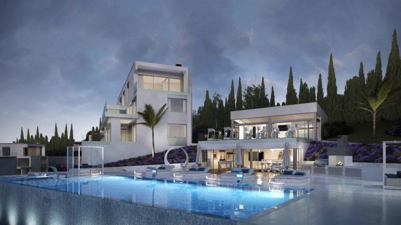 Phoenix Resort Infografias Mijas Nocturna exterior piscina