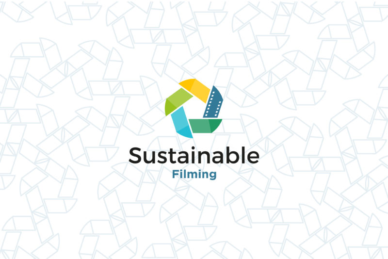 Sustainable Filming Logo y textura
