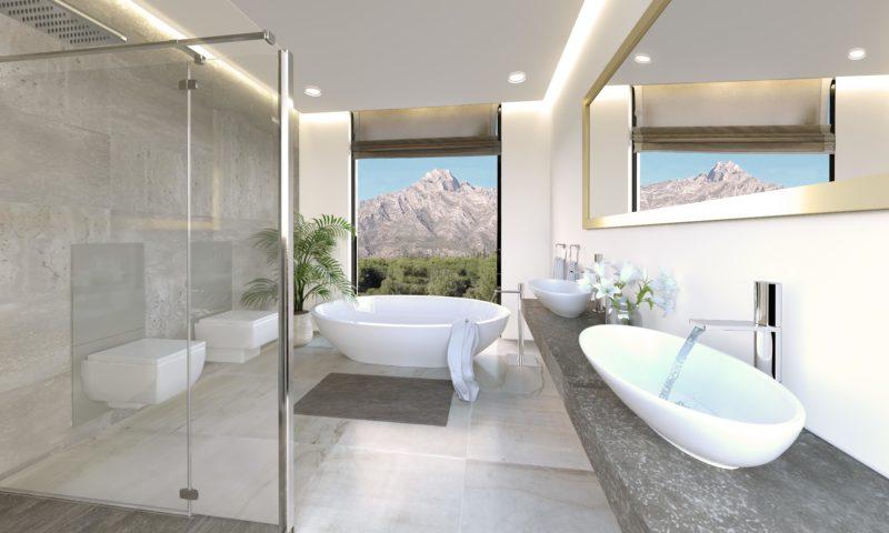 Infografías 3D Villa Baño