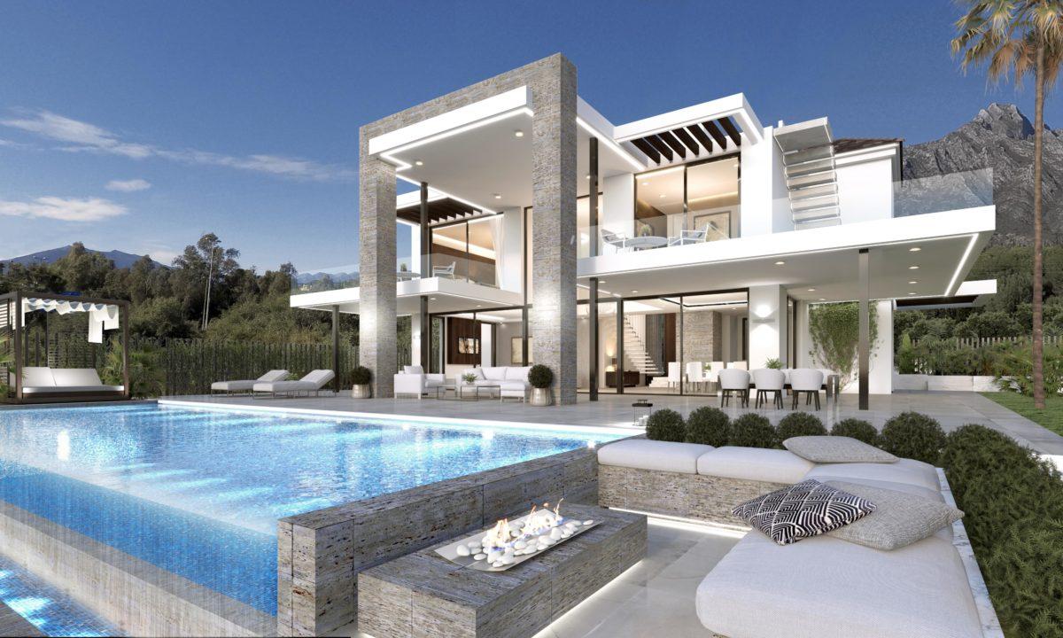 Infografías 3D Villa Espacio Exterior