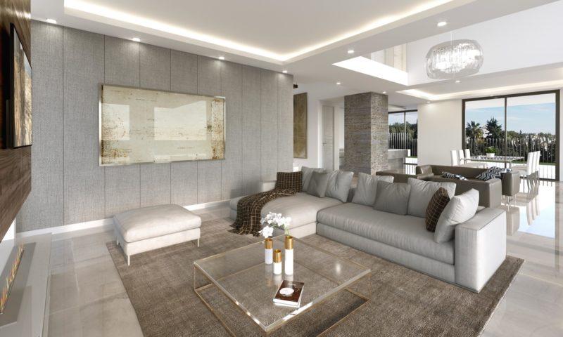 Infografías 3D Villa Salón