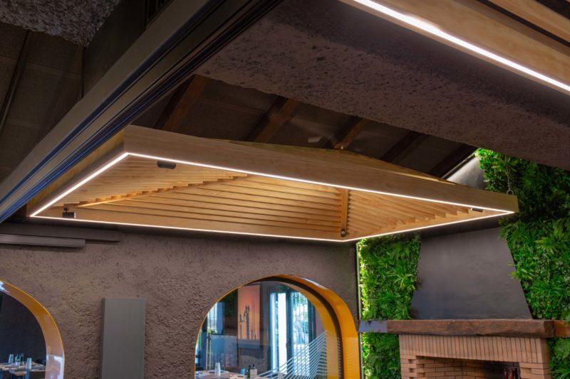 Diseño Restaurante Detalle techo natural